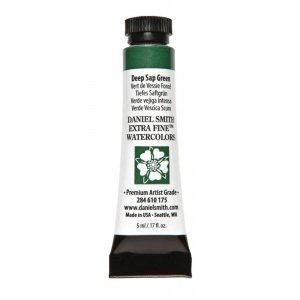Daniel Smith Extra Fine™ Watercolor 5ml Deep Sap Green: Green, Tube, 5 ml, Watercolor, (model 284610175), price per tube