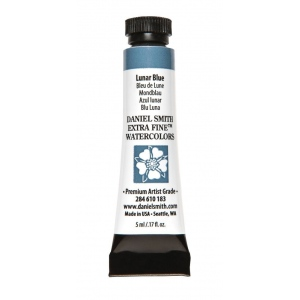 Daniel Smith Extra Fine™ Watercolor 5ml Lunar Blue; Color: Blue; Format: Tube; Size: 5 ml; Type: Watercolor; (model 284610183), price per tube