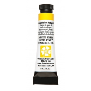 Daniel Smith Extra Fine™ Watercolor 5ml Cadmium Yellow Medium Hue; Color: Yellow; Format: Tube; Size: 5 ml; Type: Watercolor; (model 284610184), price per tube