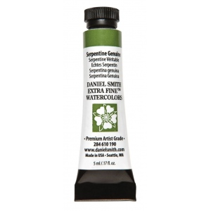 Daniel Smith Extra Fine™ Watercolor 5ml Serpentine Genuine: Green, Tube, 5 ml, Watercolor, (model 284610190), price per tube