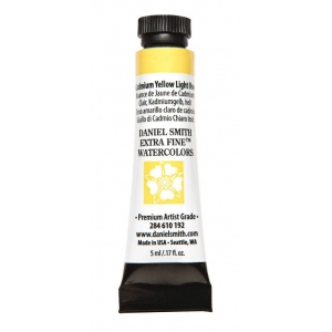 Daniel Smith Extra Fine™ Watercolor 5ml Cadmium Yellow Light Hue; Color: Yellow; Format: Tube; Size: 5 ml; Type: Watercolor; (model 284610192), price per tube