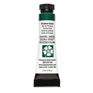 Daniel Smith Extra Fine™ Watercolor 5ml Perylene Green: Green, Tube, 5 ml, Watercolor, (model 284610194), price per tube