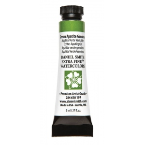 Daniel Smith Extra Fine™ Watercolor 5ml Green Apatite Genuine: Green, Tube, 5 ml, Watercolor, (model 284610197), price per tube