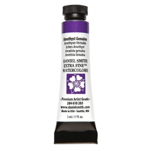 Daniel Smith Extra Fine™ Watercolor 5ml Amethyst Genuine; Color: Purple; Format: Tube; Size: 5 ml; Type: Watercolor; (model 284610203), price per tube