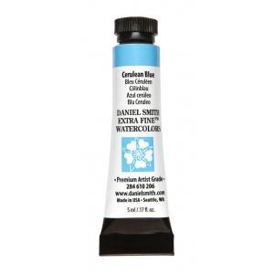 Daniel Smith Extra Fine™ Watercolor 5ml Cerulean Blue: Blue, Tube, 5 ml, Watercolor, (model 284610206), price per tube