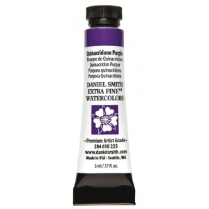 Daniel Smith Extra Fine™ Watercolor 5ml Quinacridone Purple; Color: Purple; Format: Tube; Size: 5 ml; Type: Watercolor; (model 284610225), price per tube