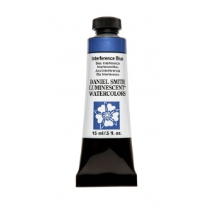 Daniel Smith Extra Fine™ Watercolor 15ml Interference Blue: Blue, Tube, 15 ml, Watercolor, (model 284640001), price per tube