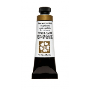 Daniel Smith Extra Fine™ Watercolor 15ml Interference Gold; Color: Yellow; Format: Tube; Size: 15 ml; Type: Watercolor; (model 284640003), price per tube