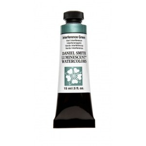 Daniel Smith Extra Fine™ Watercolor 15ml Interference Green; Color: Green; Format: Tube; Size: 15 ml; Type: Watercolor; (model 284640004), price per tube