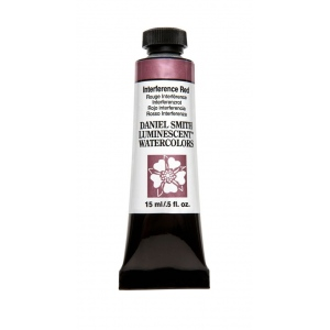 Daniel Smith Extra Fine™ Watercolor 15ml Interference Red; Color: Red/Pink; Format: Tube; Size: 15 ml; Type: Watercolor; (model 284640006), price per tube
