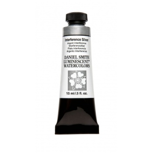 Daniel Smith Extra Fine™ Watercolor 15ml Interference Silver: Black/Gray, Tube, 15 ml, Watercolor, (model 284640007), price per tube