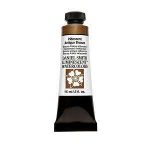 Daniel Smith Extra Fine™ Watercolor 15ml Iridescent Antique Bronze; Color: Metallic; Format: Tube; Size: 15 ml; Type: Watercolor; (model 284640008), price per tube