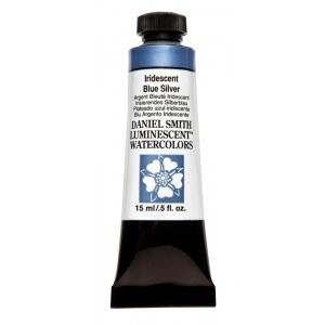 Daniel Smith Extra Fine™ Watercolor 15ml Iridescent Blue Silver; Color: Metallic; Format: Tube; Size: 15 ml; Type: Watercolor; (model 284640014), price per tube