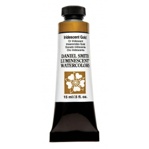 Daniel Smith Extra Fine™ Watercolor 15ml Iridescent Gold; Color: Metallic; Format: Tube; Size: 15 ml; Type: Watercolor; (model 284640017), price per tube