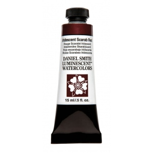 Daniel Smith Extra Fine™ Watercolor 15ml Iridescent Scarab Red; Color: Metallic; Format: Tube; Size: 15 ml; Type: Watercolor; (model 284640021), price per tube