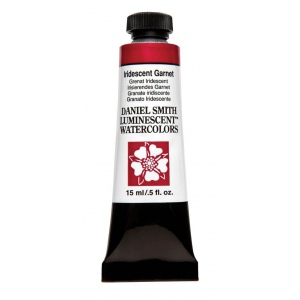 Daniel Smith Extra Fine™ Watercolor 15ml Iridescent Garnet; Color: Metallic; Format: Tube; Size: 15 ml; Type: Watercolor; (model 284640028), price per tube