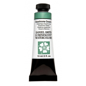 Daniel Smith Extra Fine™ Watercolor 15ml Duochrome Oceanic; Color: Metallic; Format: Tube; Size: 15 ml; Type: Watercolor; (model 284640029), price per tube