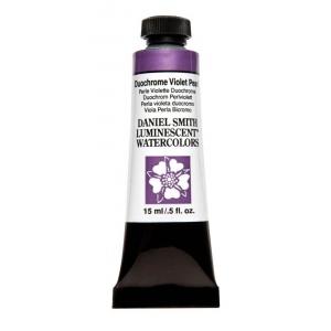 Daniel Smith Extra Fine™ Watercolor 15ml Duochrome Violet Pearl; Color: Metallic; Format: Tube; Size: 15 ml; Type: Watercolor; (model 284640041), price per tube