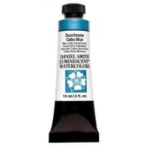 Daniel Smith Extra Fine™ Watercolor 15ml Duochrome Cabo Blue; Color: Metallic; Format: Tube; Size: 15 ml; Type: Watercolor; (model 284640044), price per tube