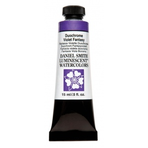 Daniel Smith Extra Fine™ Watercolor 15ml Duochrome Violet Fantasy; Color: Metallic; Format: Tube; Size: 15 ml; Type: Watercolor; (model 284640045), price per tube