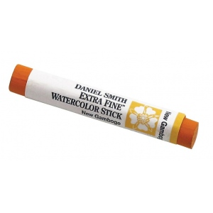 Daniel Smith Extra Fine™ Watercolor Stick 12ml New Gamboge; Color: Yellow; Format: Stick; Size: 12 ml; Type: Watercolor; (model 284670011), price per each