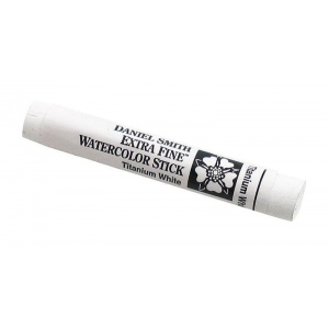 Daniel Smith Extra Fine™ Watercolor Stick 12ml Titanium White; Color: White/Ivory; Format: Stick; Size: 12 ml; Type: Watercolor; (model 284670030), price per each