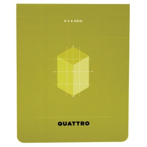 "Hand Book Journal Co.™ Quattro™ Grid Journal 4.5"" x 3.5""; Gridded: Yes; Quantity: 80 Sheets; Size: 4 1/2"" x 5 1/2""; Weight: 24 lb; (model 35531), price per 80 Sheets pad"