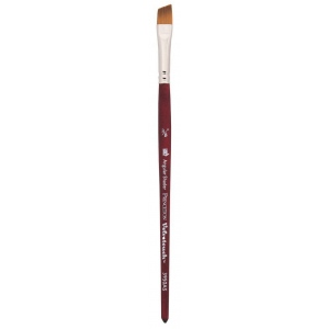 Princeton™ Velvetouch™ Synthetic Mixed Media Angular Shader 012 3/8 Brush; Length: Short Handle; Material: Luxury Synthetic; Shape: Angular Shader; Size: 012; Type: Multi; (model 3950AS012), price per each