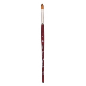 Princeton™ Velvetouch™ Synthetic Mixed Media Filbert 4 Brush; Length: Short Handle; Material: Luxury Synthetic; Shape: Filbert; Size: 4; Type: Multi; (model 3950FB4), price per each