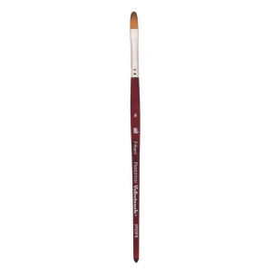 Princeton™ Velvetouch™ Synthetic Mixed Media Filbert 8 Brush; Length: Short Handle; Material: Luxury Synthetic; Shape: Filbert; Size: 8; Type: Multi; (model 3950FB8), price per each