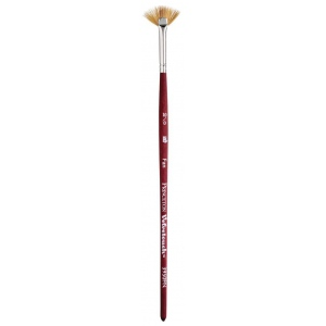 Princeton™ Velvetouch™ Synthetic Mixed Media Fan 10/0 Brush; Length: Short Handle; Material: Luxury Synthetic; Shape: Fan; Size: 100; Type: Multi; (model 3950FN100), price per each