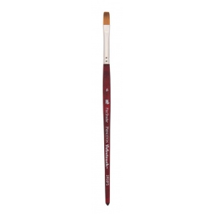 Princeton™ Velvetouch™ Synthetic Mixed Media Flat Shader 2 Brush; Length: Short Handle; Material: Luxury Synthetic; Shape: Flat Shader; Size: 2; Type: Multi; (model 3950FS2), price per each