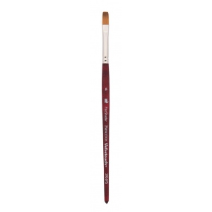 Princeton™ Velvetouch™ Synthetic Mixed Media Flat Shader 4 Brush: Short Handle, Luxury Synthetic, Flat Shader, 4, Multi, (model 3950FS4), price per each