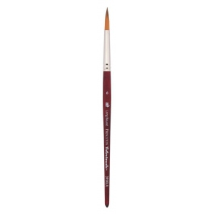Princeton™ Velvetouch™ Synthetic Mixed Media Long Round 4 Brush; Length: Short Handle; Material: Luxury Synthetic; Shape: Long Round; Size: 4; Type: Multi; (model 3950LR4), price per each