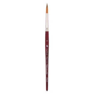 Princeton™ Velvetouch™ Synthetic Mixed Media Long Round 8 Brush; Length: Short Handle; Material: Luxury Synthetic; Shape: Long Round; Size: 8; Type: Multi; (model 3950LR8), price per each