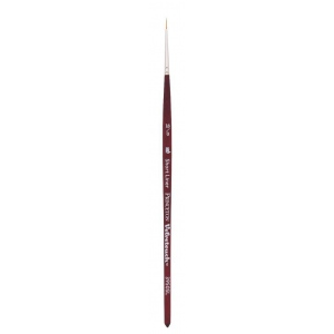 Princeton™ Velvetouch™ Synthetic Mixed Media Short Liner 18/0 Brush; Length: Short Handle; Material: Luxury Synthetic; Shape: Short Liner; Size: 180; Type: Multi; (model 3950SL180), price per each