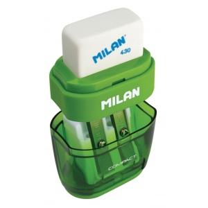 Milan® Compact Sharpener/Eraser Display; Holes: Two; Type: Manual; (model 4703116D), price per each