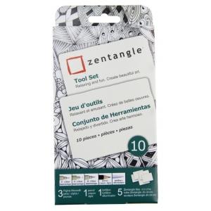 Pigma® Micron® Zentangle® ATC White Tile Set; Color: White/Ivory; Quantity: 10 Tiles; Type: Art Kit; (model 50109), price per set