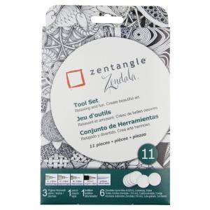 "Pigma® Micron® Zentangle® 4 5/8"" White Zendala Tile Set; Quantity: 11 Piece; Type: Art Kit; (model 50113), price per set"
