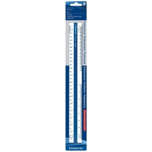 "Staedtler® 12"" Flat Architectural Scale: Plastic, 12"", Scale, (model 5618910BK), price per each"