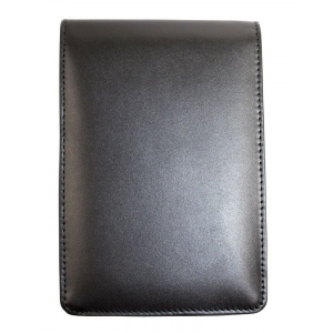 Hand Book Journal Co.™ Quattro™  Leather Pad Holder Black; Color: Black/Gray; Material: Leather; (model 60405), price per each