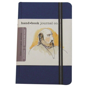 "Hand Book Journal Co.™ Travelogue Series Artist Journal 5.5"" x 3.5"" Pocket Portrait Ultramarine Blue; Color: Blue; Quantity: 128 Sheets; Size: 3 1/2"" x 5 1/2""; Weight: Heavyweight; (model 721212), price per each"