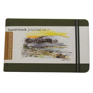 "Hand Book Journal Co.™ Travelogue Series Artist Journal 3.5"" x 5.5"" Pocket Landscape Cadmium Green; Color: Green; Quantity: 128 Sheets; Size: 3 1/2"" x 5 1/2""; Weight: Heavyweight; (model 721223), price per each"