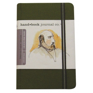 "Hand Book Journal Co.™ Travelogue Series Artist Journal 8.25"" x 5.5"" Large Portrait Cadmium Green; Color: Green; Quantity: 128 Sheets; Size: 5 1/2"" x 8 1/4""; Weight: Heavyweight; (model 721413), price per each"