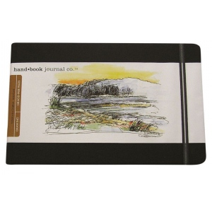 "Hand Book Journal Co.™ Travelogue Series Artist Journal 5.5"" x 8.25"" Large Landscape Ivory Black; Color: Red/Pink; Quantity: 128 Sheets; Size: 5 1/2"" x 8 1/4""; Weight: Heavyweight; (model 721421), price per each"