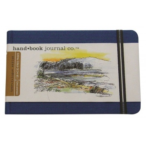"""Hand Book Journal Co.™ Travelogue Series Artist Journal 5.5"""" x 8.25"""" Large Landscape Ultramarine Blue; Color: Blue; Quantity: 128 Sheets; Size: 5 1/2"""" x 8 1/4""""; Weight: Heavyweight; (model 721422), price per each"""