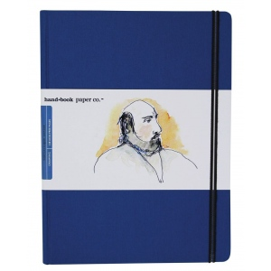 "Hand Book Journal Co.™ Travelogue Series Artist Journal 10.5"" x 8.25"" Grand Portrait Ultramarine Blue; Color: Blue; Quantity: 128 Sheets; Size: 8 1/4"" x 10 1/2""; Weight: Heavyweight; (model 721512), price per each"