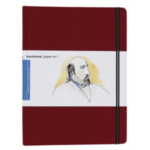 "Hand Book Journal Co.™ Travelogue Series Artist Journal 10.5"" x 8.25"" Grand Portrait Vermillion Red; Color: Red/Pink; Quantity: 128 Sheets; Size: 8 1/4"" x 10 1/2""; Weight: Heavyweight; (model 721514), price per each"