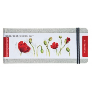 "Hand Book Journal Co.™ Travelogue Series Watercolor Journal 3.5"" x 8.25"" Pocket Panorama Linen; Material: Linen; Quantity: 60 Sheets; Size: 3 1/2"" x 8 1/4""; Weight: 110 lb; (model 769035), price per each"