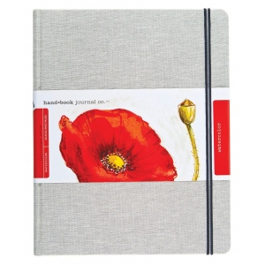 "Hand Book Journal Co.™ Travelogue Series Watercolor Journal 10.5"" x 8.25"" Grand Portrait Linen; Material: Linen; Quantity: 60 Sheets; Size: 8 1/4"" x 10 1/2""; Weight: 110 lb; (model 769105), price per each"